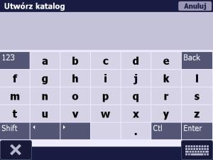 Okno - Utwórz katalog