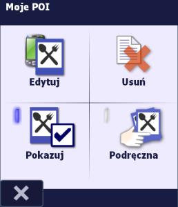 Menu kontekstowe dla kategorii w oknie Wyświetlanie