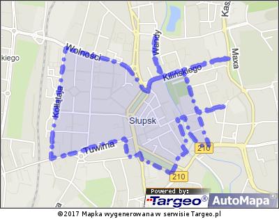 Słupsk Strefa Płatnego Parkowania Targeo