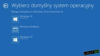 Wybierz domyślny system operacyjny