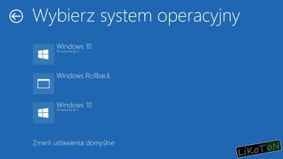 Wybierz system operacyjny