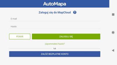 Logowanie do MapCloud