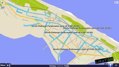 Obrysy Strefy Płatnego Parkowania w Jastarni