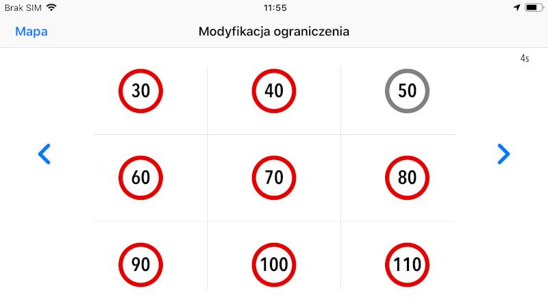 Modyfikacja ograniczenia prędkości