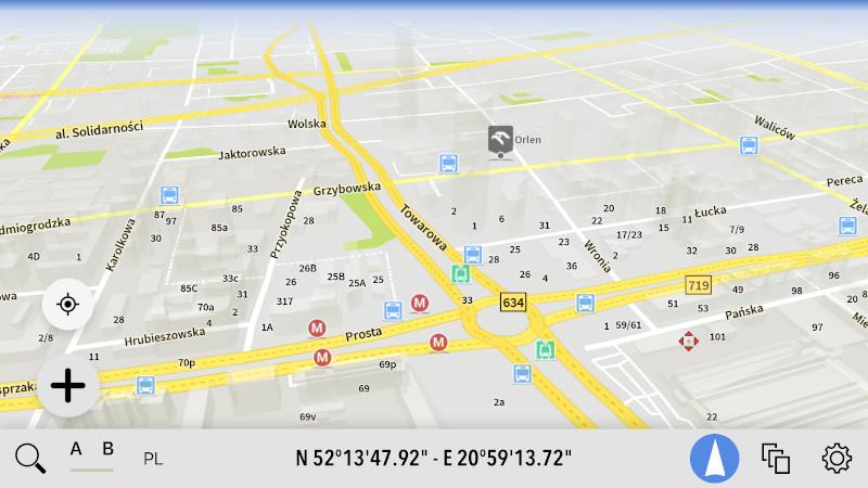 AutoMapa dla iOS - Nowe kolory POI kategorii Transport