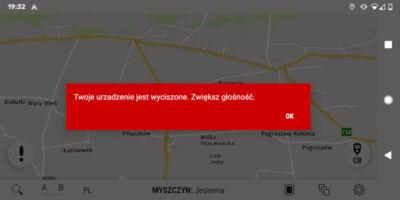AutoMapa Android - Informacja o wyciszonym urządzeniu