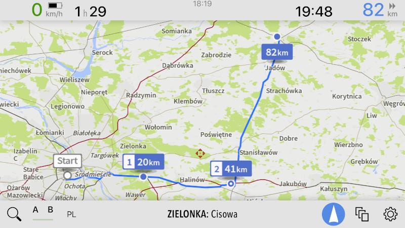 AutoMapa iOS - Nowa wizualizacja punktów trasy