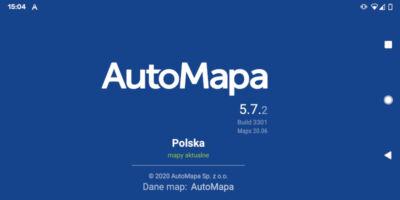 AutoMapa dla Android - Ekran startowy