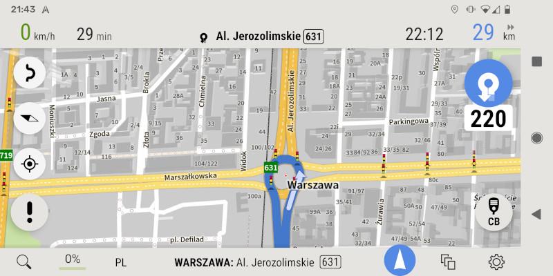 AutoMapa Android - Tryb przeglądania mapy