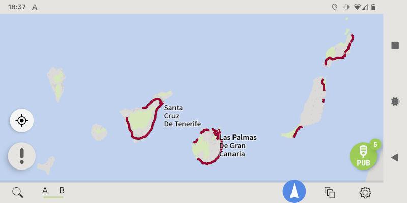 AutoMapa Android Wyspy Kanaryjskie