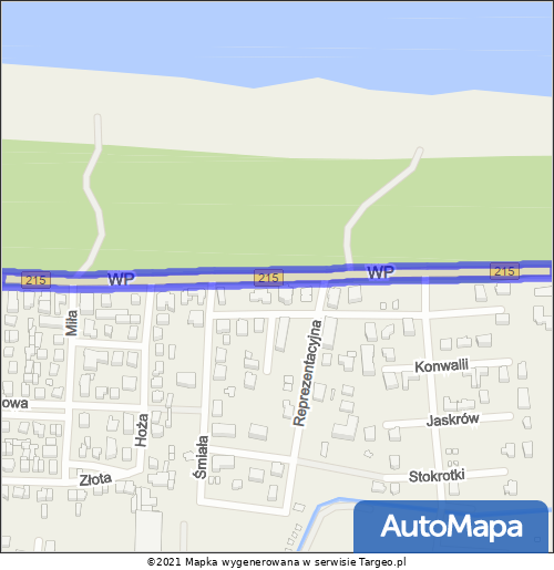 Karwia Strefa Płatnego Parkowania mapa Targeo