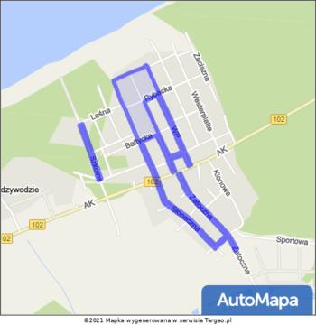 Międzywodzie Strefa Płatnego Parkowania mapa Targeo