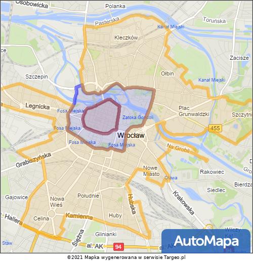 Wrocław Strefa Płatnego Parkowania mapa targeo