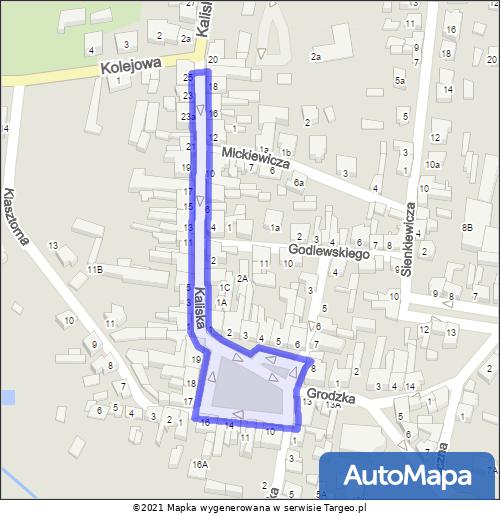 Grabów nad Prosną Strefa Płatnego Parkowania mapa Targeo